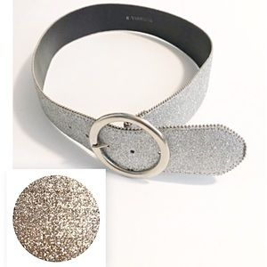 Accessories - NWT, Silver With Metallic Glitter Style Belt